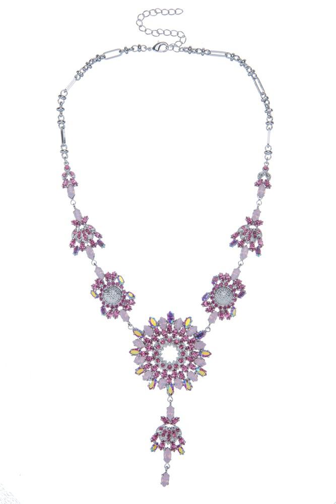 Exklusivní sada náhrdelník a náušnice Rose 14D