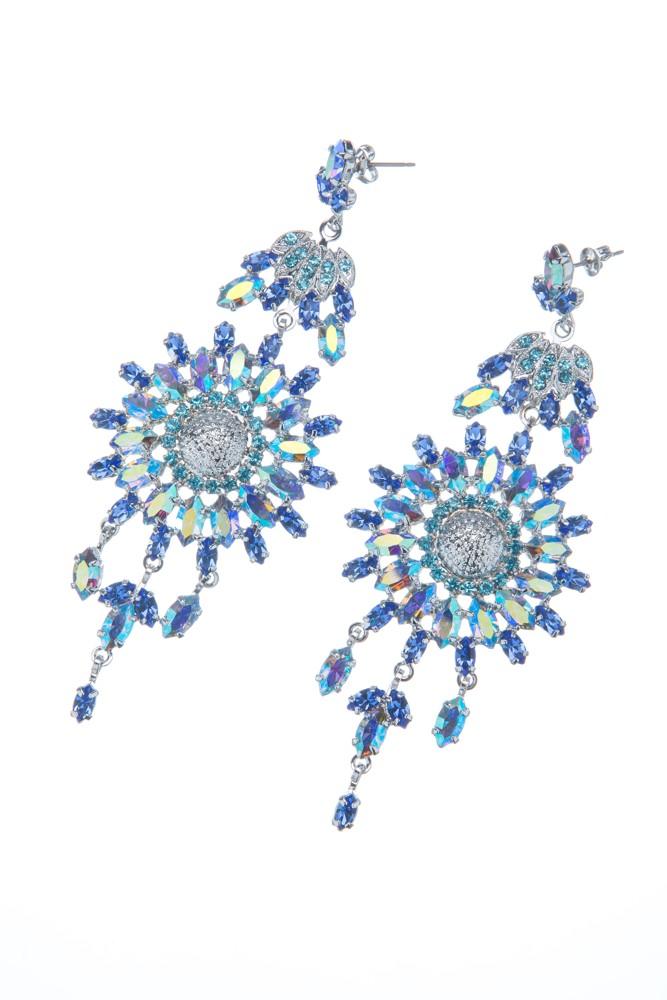 Exklusivní sada náhrdelník a náušnice Blue 14D