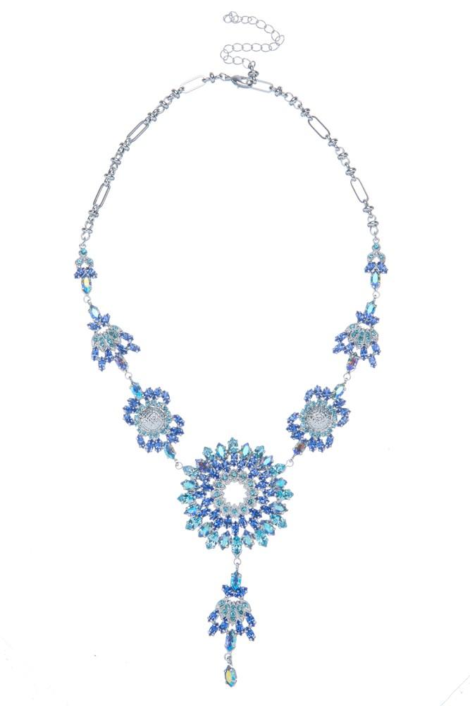 Exklusivní sada náhrdelník a náušnice Blue 7D