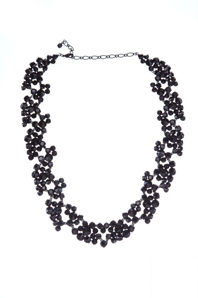 Exklusivní sada náhrdelník a náušnice Black 14D